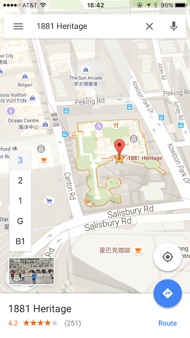 Google Maps' Indoor Map