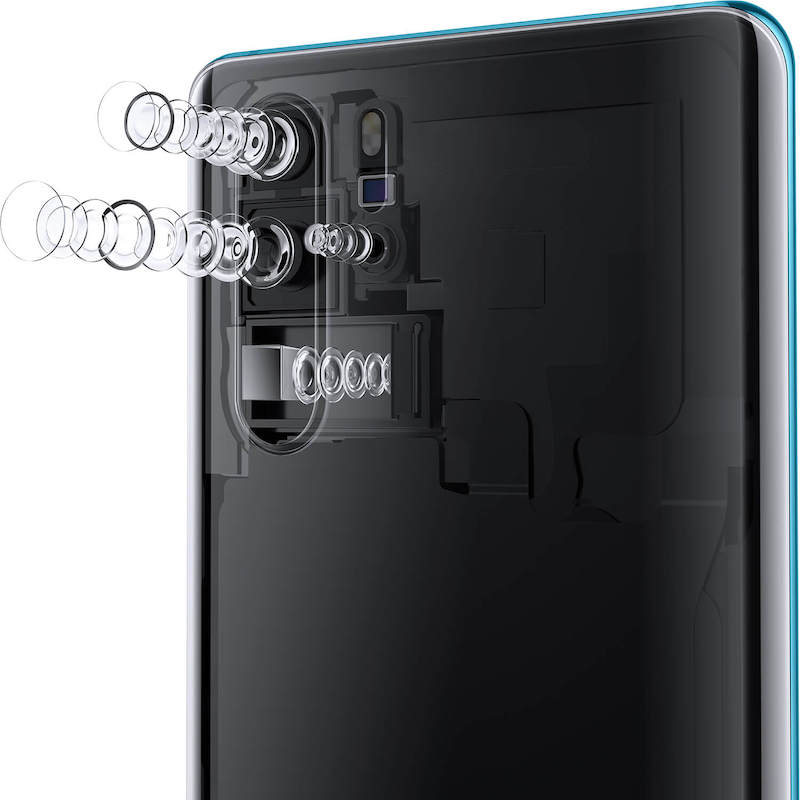 The Huawei P30 Pro with its quad Leica camera, covering 16mm to 125mm. It's like having a bag of lenses in the pocket.
