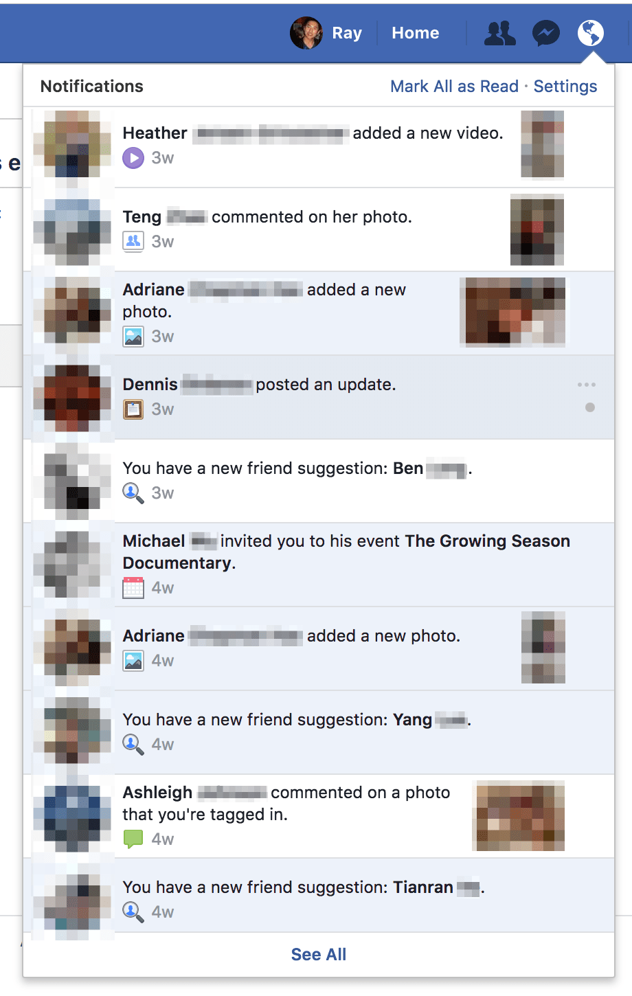 New 2018 Facebook friends and family notifications