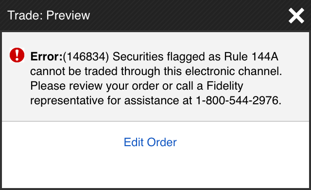 Try to buy `XIACF` with a retail brokerage account and you will hit a Rule 144A wall like this one in Fidelity.